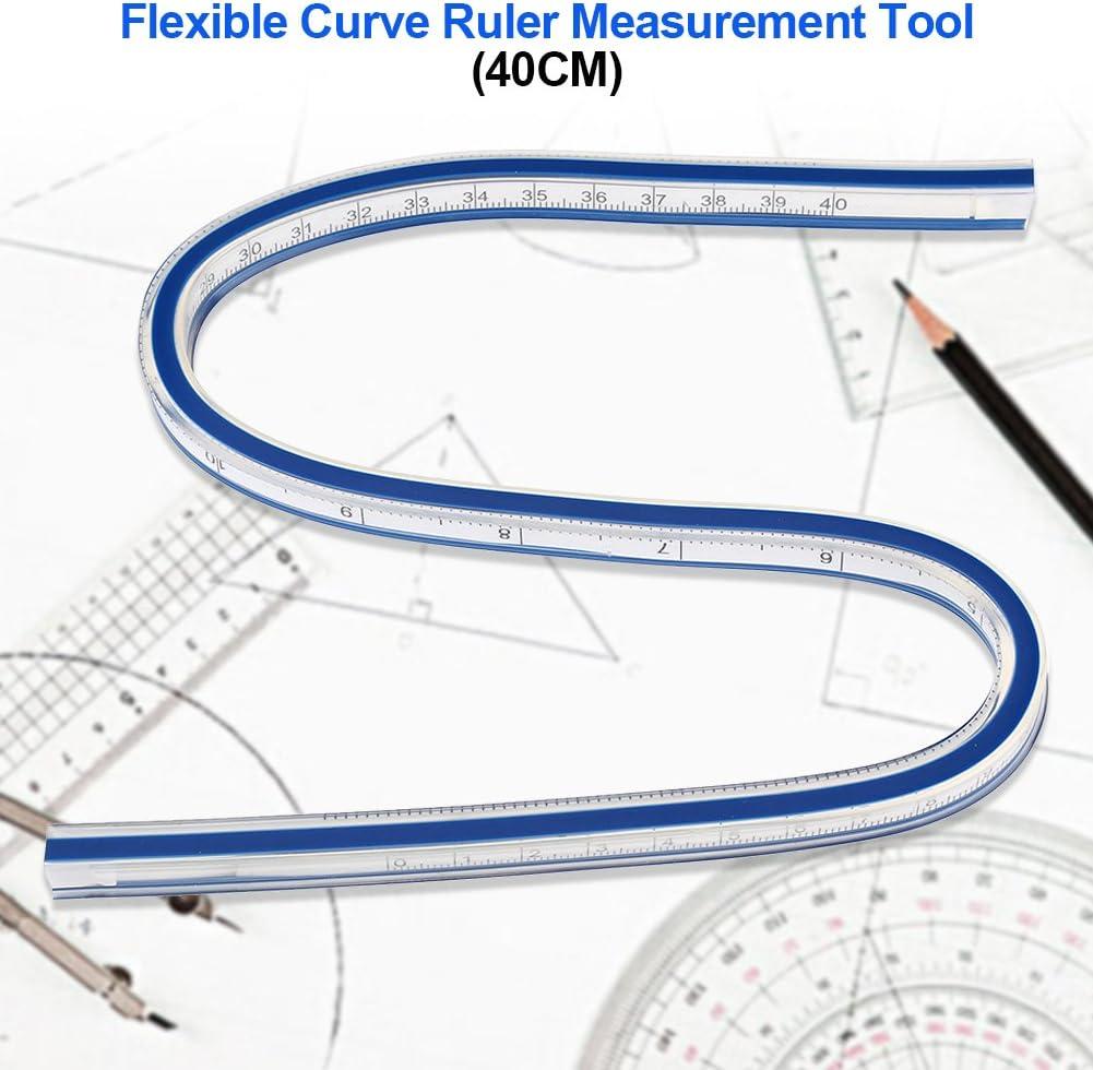 Fdit1 30cm 40cm 60cm Flessibile Curva Righello di plastica Pittura Disegno Grafica Misura Indumento Design Strumento di Misura Righello 1#