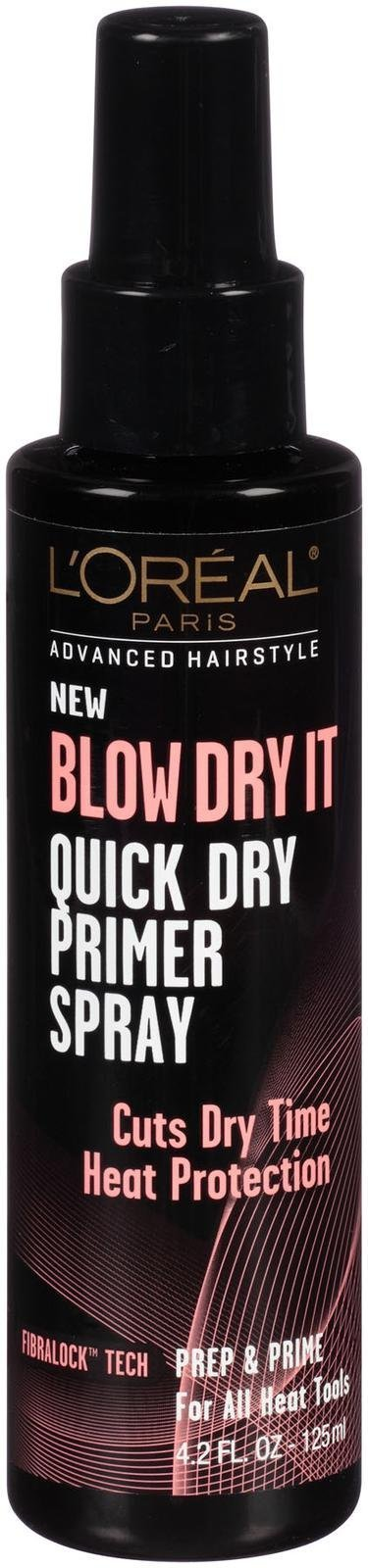 L'Oréal Paris Advanced Hairstyle BLOW DRY IT Quick Dry Primer Spray, 4.2 fl. oz. (Packaging May Vary)