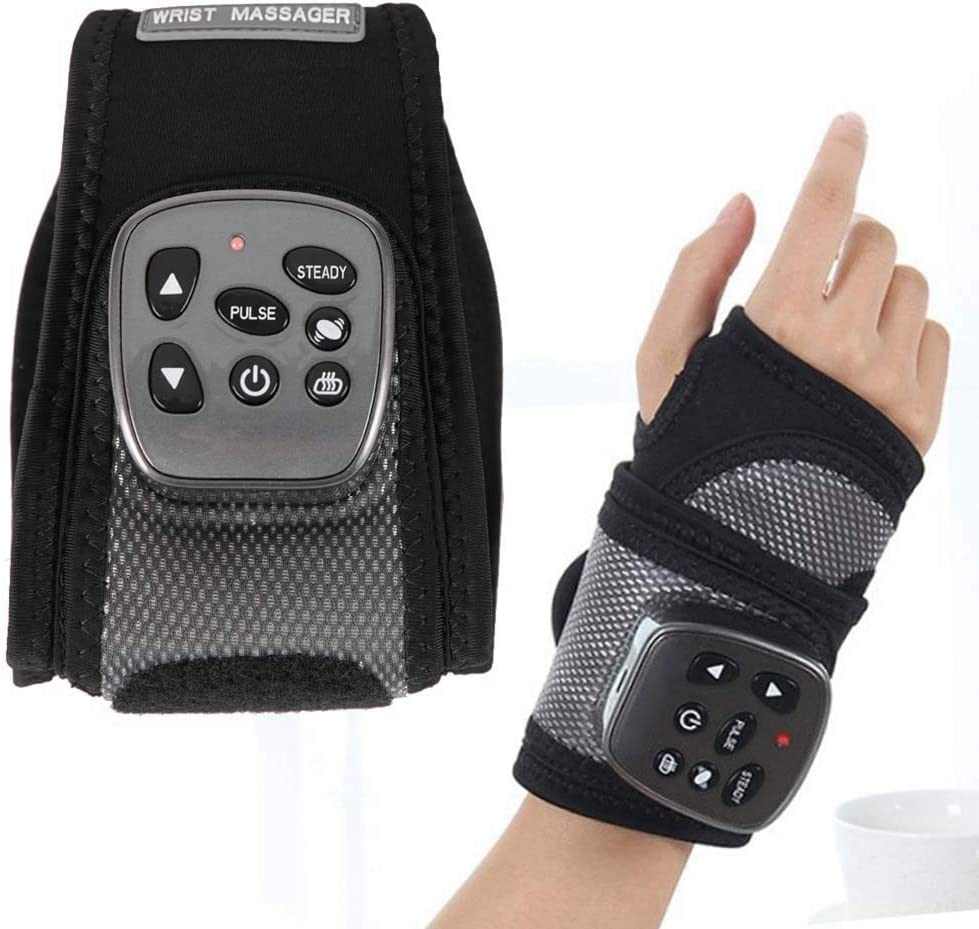 Yxian Wrist Brace, Hand Compression Carpal Tunnel Wrist Support Multifunctional Electric Wrist Heating Brace and Hand Pain Relief, Removable Splint Suitable for Both Right and Left Hands