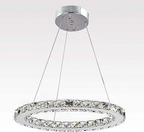 Modern Chandelier Crystal Glass LED Ceiling Light Fixture Pendant Hanging Lamp
