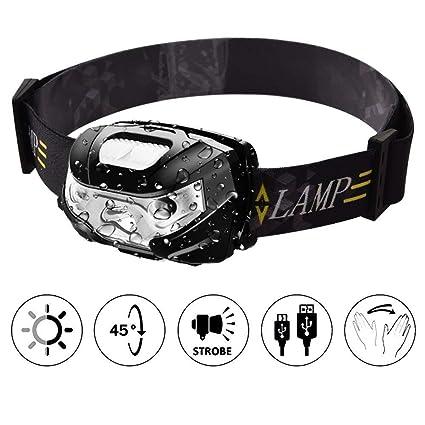 Amazon Com Mutang Led Headlamp Usb Rechargeable Headlight 3w