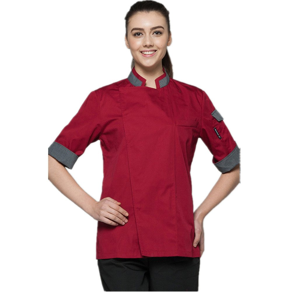 XINFU Chefs Uniforms Unisex Long and Short Sleeve Coat Catering Jackets