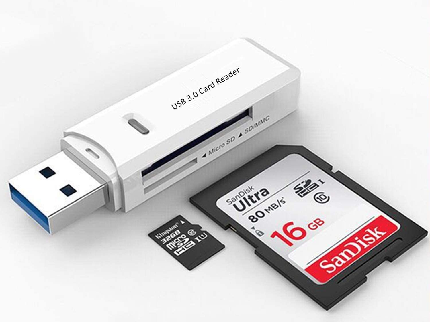 GIKERSY SD Card Reader,2 Pack USB 3.0 Memory Card Reader for Micro SD//Micro SDHC//Micro SDXC//T-Flash//SD Card//SDHC//SDXC for Windows Series//Mac OS