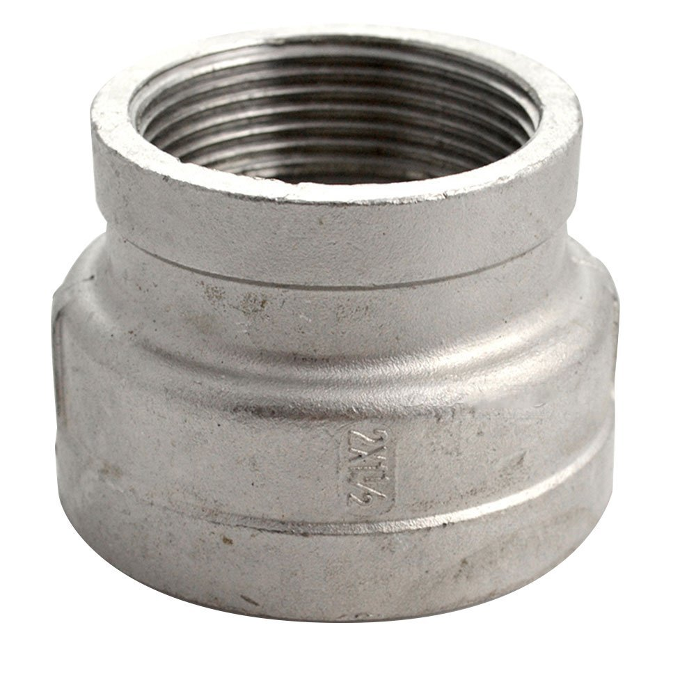 2''x1-1/2'' Female Nipple Threaded Pipe Fitting, Reducer Coupling,Stainless Steel 304 NPT