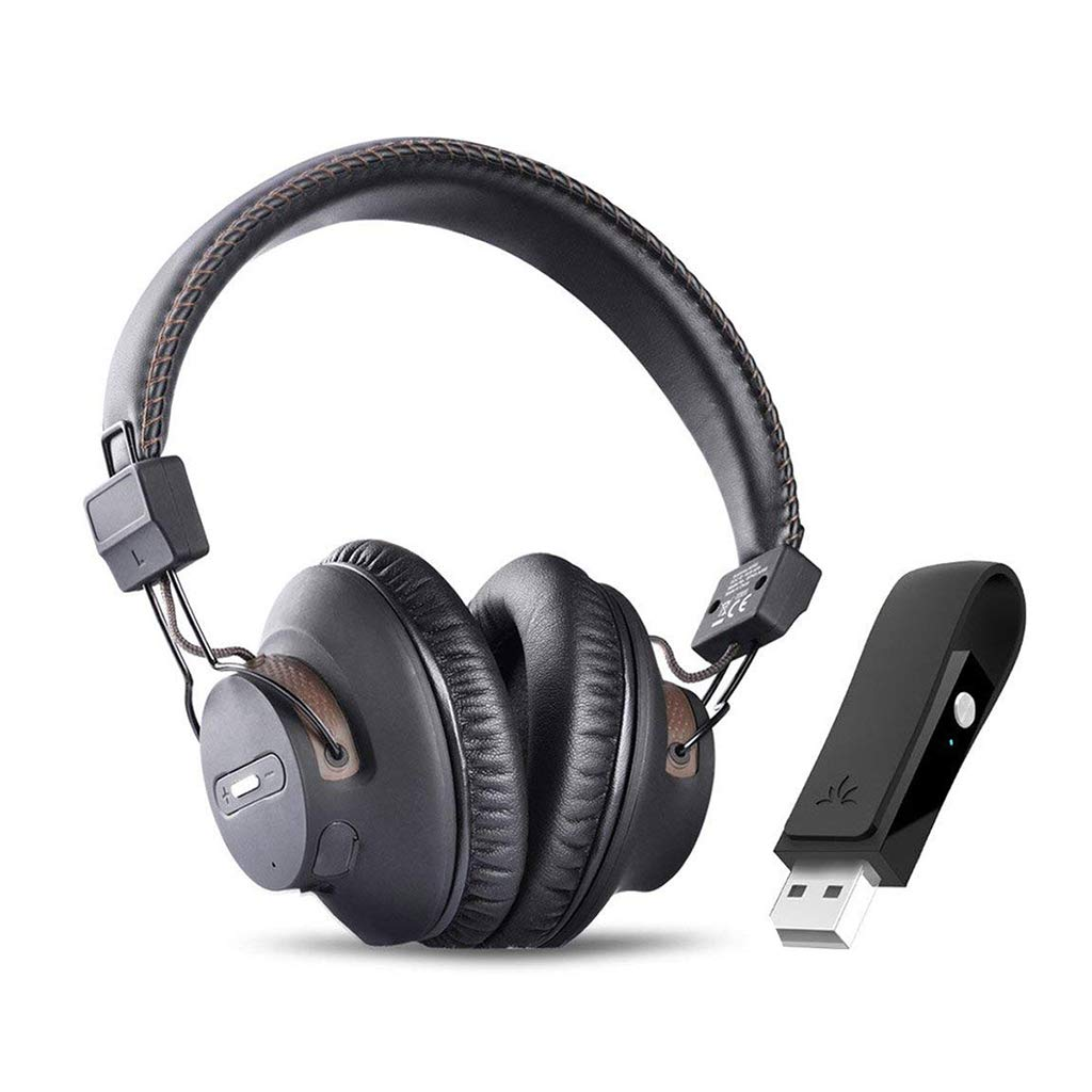 Avantree DG59 Plug & Play Wireless PS4 Gaming Headphones with Bluetooth USB  Audio Transmitter Set for PC Desktop Computer, Chat & Music