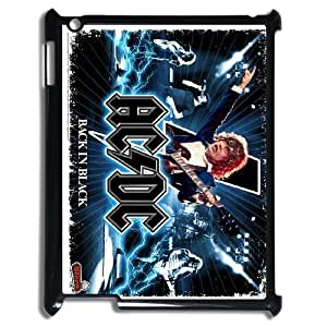 ACDC Pattern Plastic Hard Case for ipad 2 3 4 case APL716201