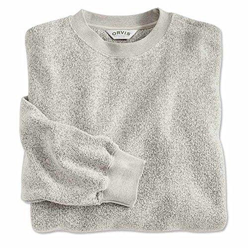 1970s Sweater Mens (Orvis Ultra-ragg Crew-neck Cotton Pullover Sweatshirt, Natural, XL)