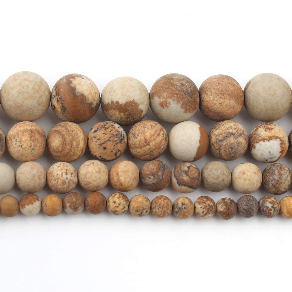 Song Xi Matte ite Beads 6mm Natural Stone Beads for Jewelry Making 15inch Beads