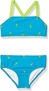Wide.ling a rayas Conjunto de 3 piezas de bikini para ni/ña traje de ba/ño y diadema