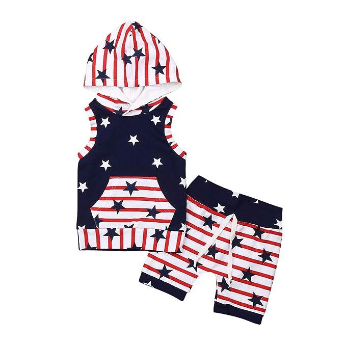 Amazon.com: 4° de julio bebé niños niñas niños bandera de ...