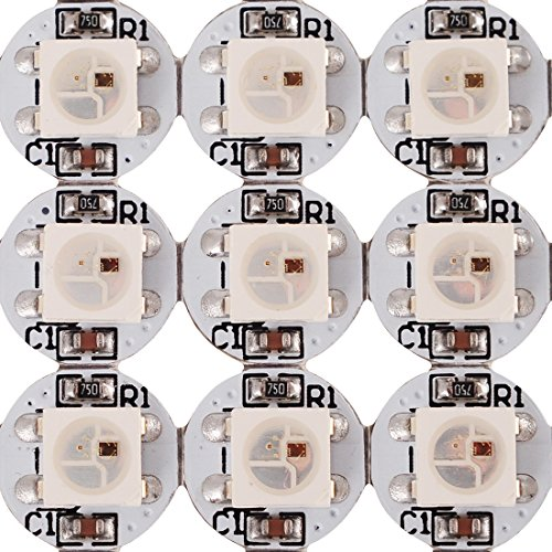 BTF-LIGHTING 100 pcs WS2812B LED chips With PCB Heatsink (10mm3mm) WS2811 IC Built-in 5050 SMD RGB DC5V by BTF-LIGHTING