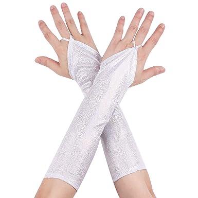 LassZone Paire de gants d/ét/é en dentelle pour femme Coude long coude /Équitation
