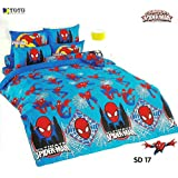 Ultimate Spider Man Bed In a Bag Set (King Size,SD17); 1 Four Season Comforter with 4 pieces of Bed Fitted Sheet Set