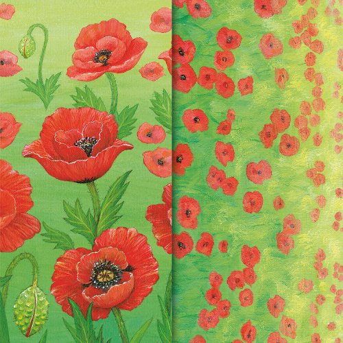 Craft Creations Mixed Pack of 20 Creative Paper Strips - CPA073 Poppies - 4
