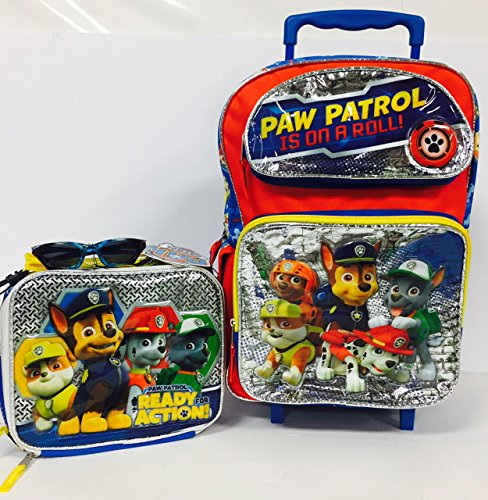 """Price comparison product image PAW Patrol 16"""" Rolling Backpack,  Insulated Lunch Bag"""