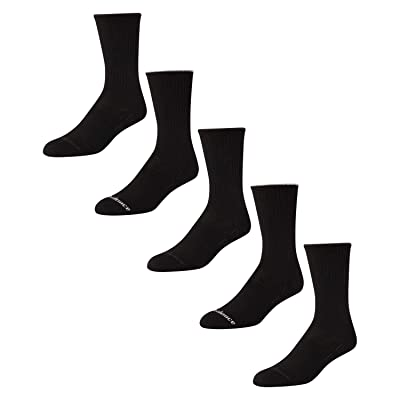 'New Balance Men's Athletic Arch Compression Cushion Comfort Crew Socks (5 Pack), Black, Size Shoe Size: 6-12.5' at Amazon Men's Clothing store