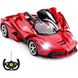 RASTAR RC Car | 1/14 Scale Ferrari LaFerrari Radio Remote Control R/C Toy Car Model Vehicle for Boys Kids, Red