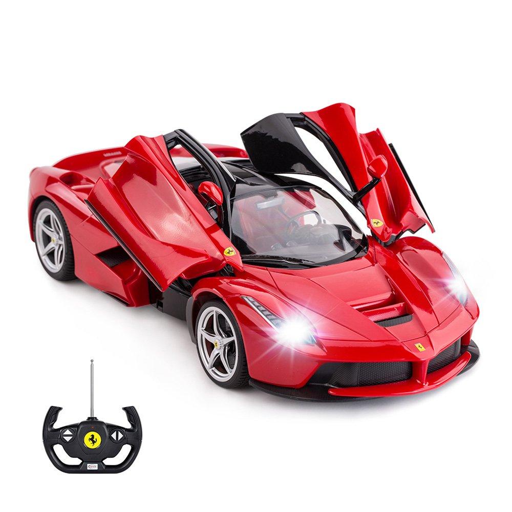 RASTAR RC Car   1/14 Scale Ferrari LaFerrari Radio Remote Control R/C Toy Car Model Vehicle for Boys Kids, Red