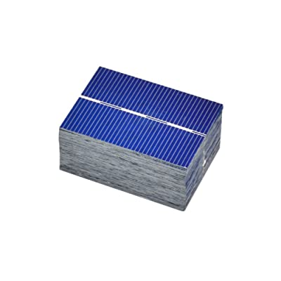AOSHIKE 100Pcs Micro Mini Solar Panel Solar Cells 0.5V 0.35W Module Solar Battery Charger DIY 39x52mm/1.5x2inch Polycrystalline Silicon Photovoltaic Solar Panels Sun Power Cells : Garden & Outdoor