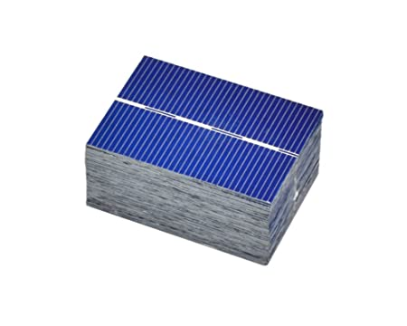 AOSHIKE 100Pcs Micro Mini Solar Panel Solar Cells 0.5V 0.35W Module Solar Battery Charger DIY 39x52mm/1.5x2inch Polycrystalline Silicon Photovoltaic Solar Panels Sun Power Cells