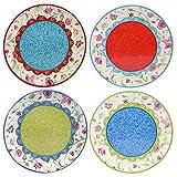 Certified International 17276SET/4 Annabelle Salad/Dessert Plates (Set of 4), 9-Inch, Multicolor