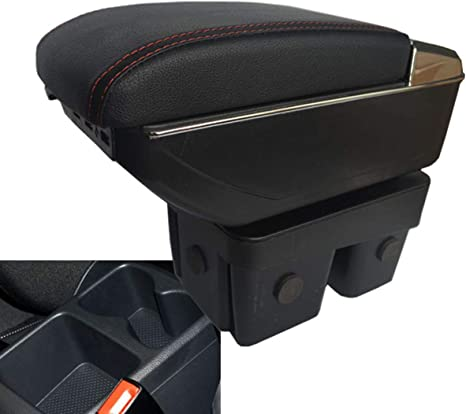 vano portaoggetti con bracciolo in pelle da montare alla console centrale dell/'auto AutoSunShine
