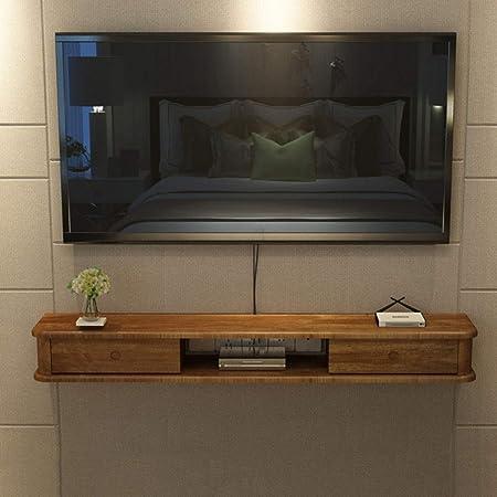 Montado en la pared de TV Gabinete flotante Plataforma Media Console de la sala de entretenimiento