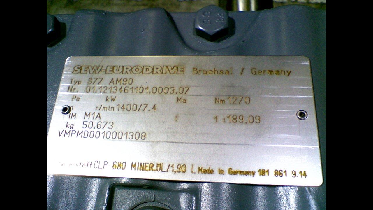 bab381e42976c Sew Eurodrive S77 Am90 Motor R/Min 1400/7.4 Nm1270 S77 Am90: Amazon ...
