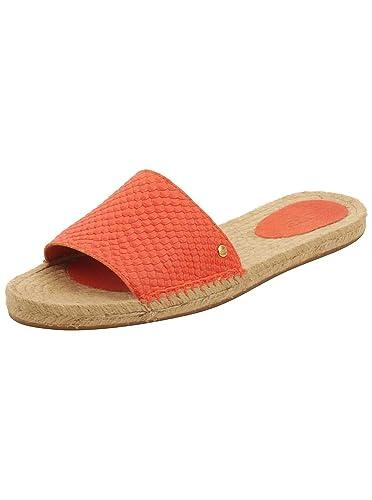 5fce2ad58ad UGG Womens Cherry Exotic Sandals In Hazard Orange 5.5 W US: Amazon ...