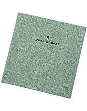 Forusky 50 Zakken Stof Cover Instax Wide Album 3.5x5 fotoalbum voor fuji Instax Wide 210, Instax Wide 300, 5 Inch foto's (groen)