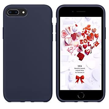 coque iphone 8 plus silicone bleu