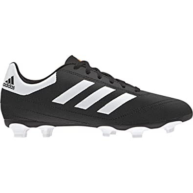 009e3db1b10841 ADIDAS Kids Goletto VI Firm Ground Football Shoes (CORE Black/FTWR  White/Solar
