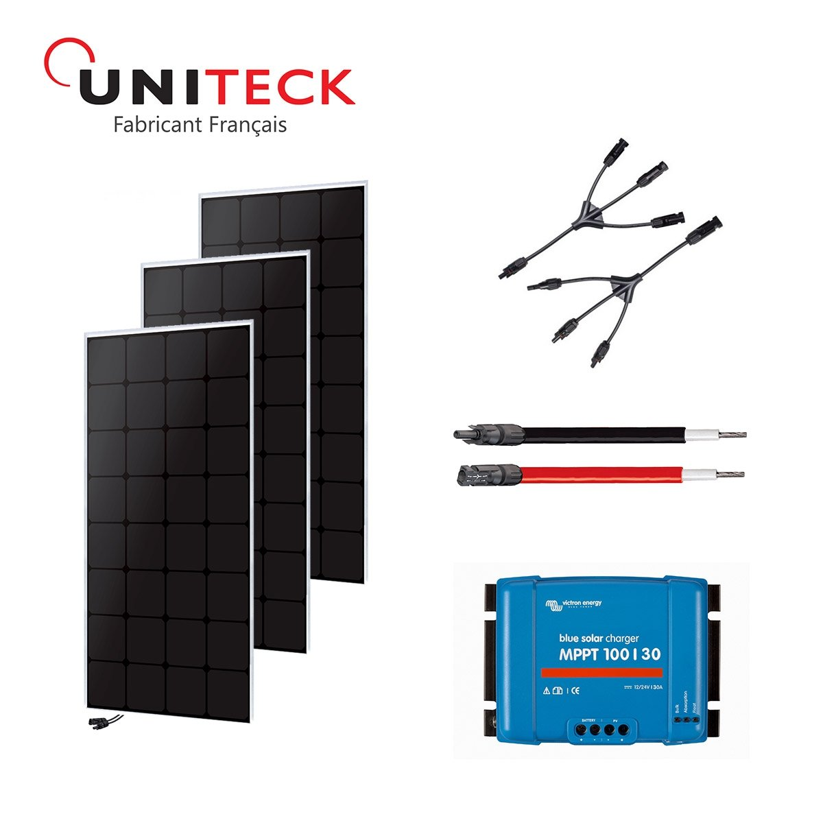 Kit solar 300 W back-contact 12 V uniteck