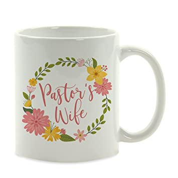 Amazoncom Andaz Press 11oz Coffee Mug Gift Pastors Wife Floral