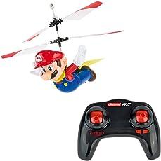 Carrera RC - Capa voladora oficial Super Mario 2.4 GHz 2 canales recargable mando a distancia Helicóptero Drone juguete con sistema fácil de volar Gyro