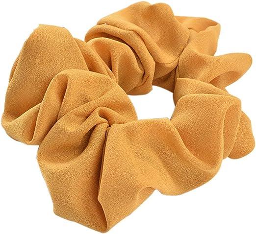 Ogquaton Paño de Color Puro Corbata de Pelo Cuerda Cola de Caballo ...