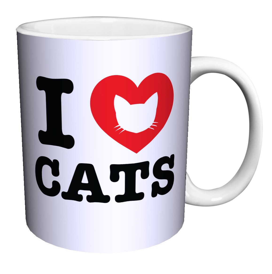 I Heart Cats Novelty Animal Lover Pet Quote Decorative Ceramic Gift Coffee (Tea, Cocoa) 11 Oz. Mug by Culturenik (Image #1)