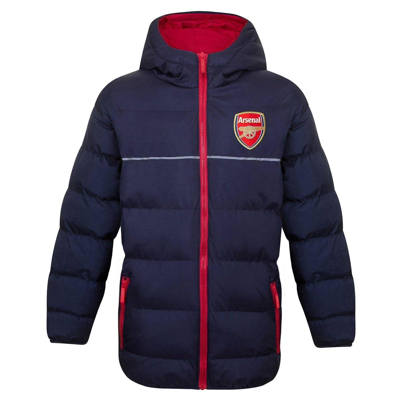 Arsenal FC - Plumífero Acolchado Oficial con Capucha - para niño ...