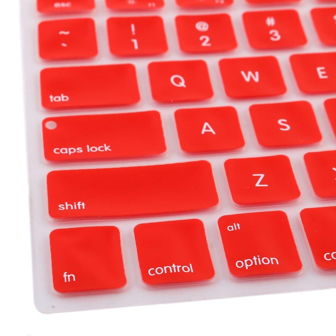 Amazon.com: eDealMax teclado de silicona Protector de la piel cubierta del ordenador portátil inalámbrica Bluethooth Red Para el iMac: Electronics