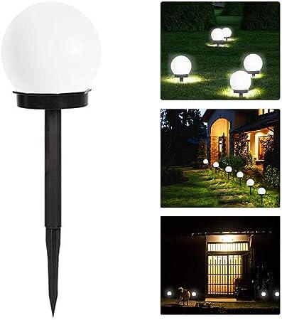 Kylewo Lámpara Solar para jardín lámpara Solar Resistente al Agua para jardín Bola LED para Exteriores con Punta de Tierra de plástico 10 x 10 x 33 cm: Amazon.es: Hogar