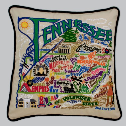 Catstudio Tennessee Pillow by Catstudio Embroidered Pillow