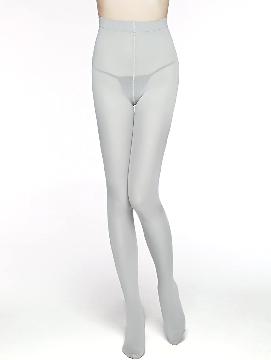 Women's 80 Den Microfiber Soft Opaque Tights (White): Clothing