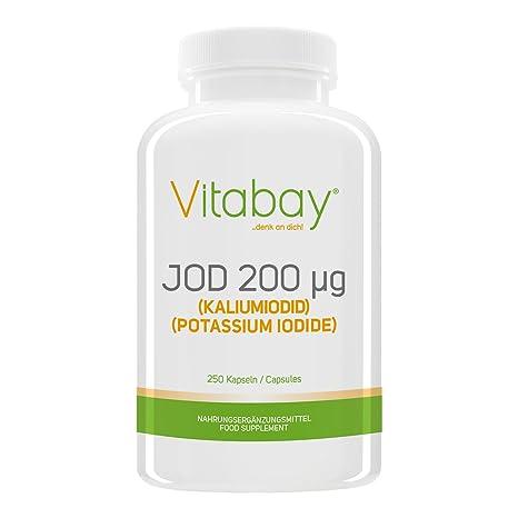 Yodo 200 microgramos - de yoduro de potasio - 250 cápsulas