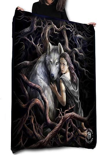 Wild Star Home Soul Bond – Fleece Blanket Throw Tapestry by Anne Stokes