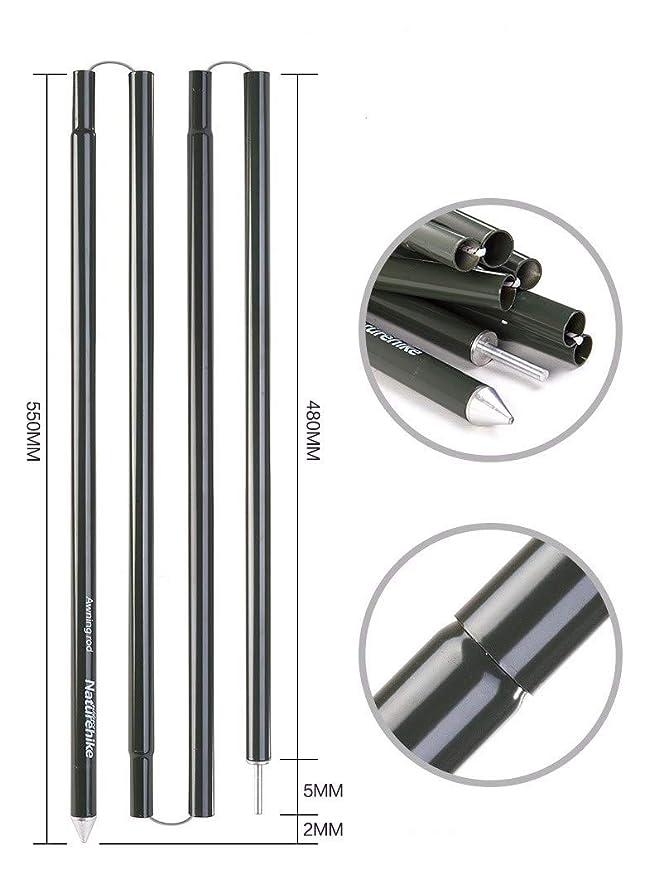QHYXT Espesar Plegado De Aluminio Postes de la Tienda 2 ...