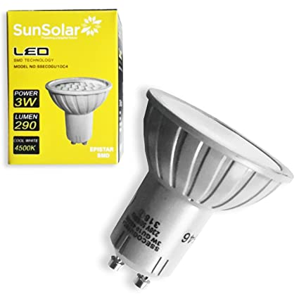 10 bombillas LED de alta calidad, 3 W=35 W, GU10, de