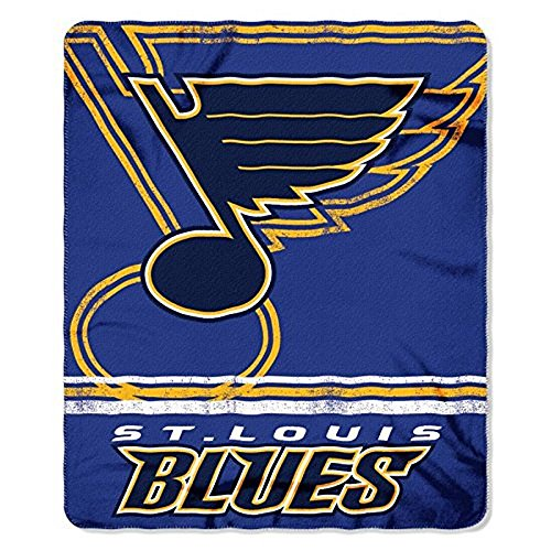 The Northwest Company NHL Officially Licensed St. Louis Blues Shadow Fleece Throw Blanket (50
