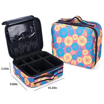 Amazon.com: Waxplle Bolsa de maquillaje de viaje bolsa de ...