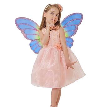 d1bbd071b80ec cnstone ハロウィン衣装 子供 妖精 羽付き コスチューム コスプレ 仮装 衣装 蝶 精霊 魔女 可愛いプリンセス