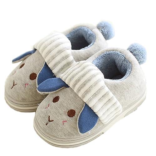 Paragon 1-7 Años de Edad Bebe Niño Zapatillas casa Niñas Invierno Pantuflas Suave Encantador Dibujos Animados Slippers: Amazon.es: Zapatos y complementos